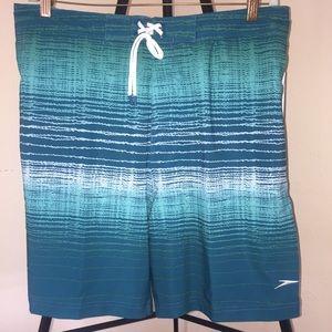 Speedo Swim - NWT Speedo Teal Print Columbia Swim Trunks Sz XL